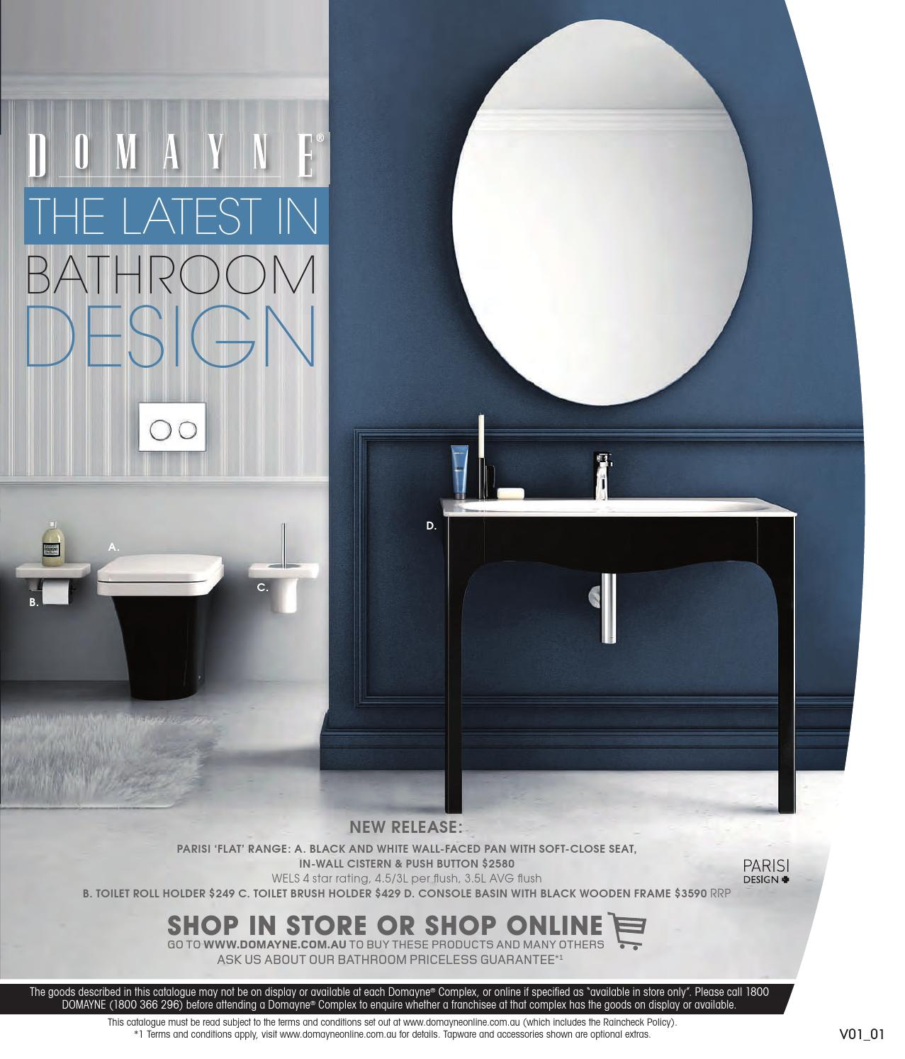 The Latest In Bathroom Designs By Domayne Issuu