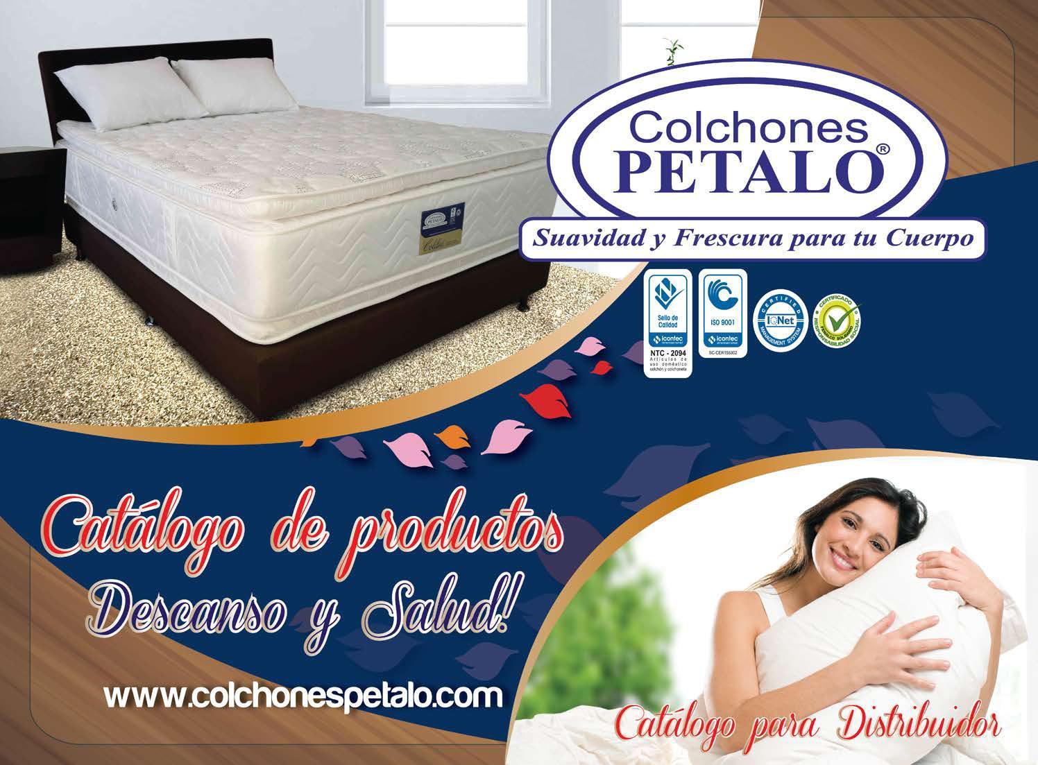 Cat logo de productos distribuidor by colchones petalo - Catalogo de colchones ...