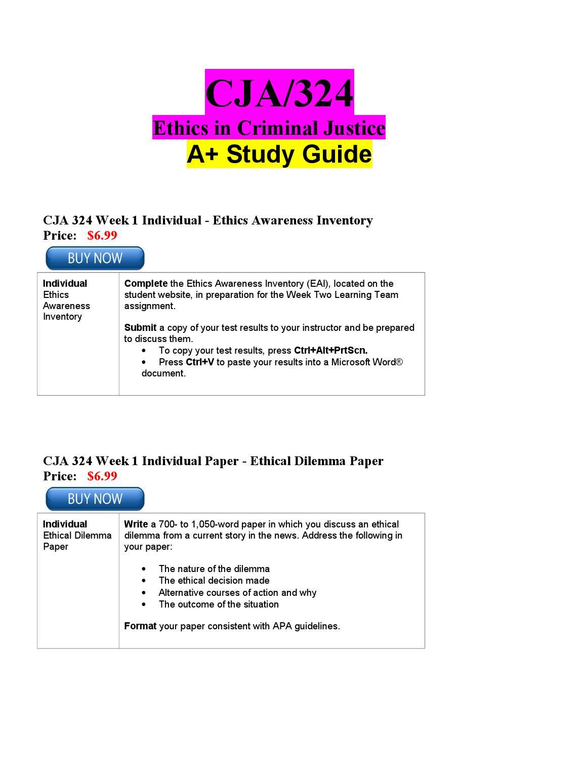cja 324 week 1 individual paper