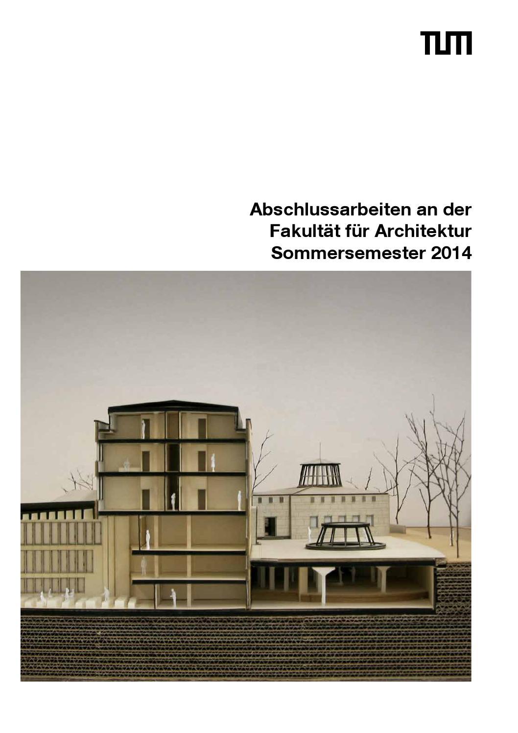 Tum fakultät für architektur   magazin   diplom 2009/2 by martin ...