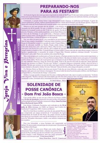 [Igreja Viva e Peregrina – Julho/Agosto 2014]
