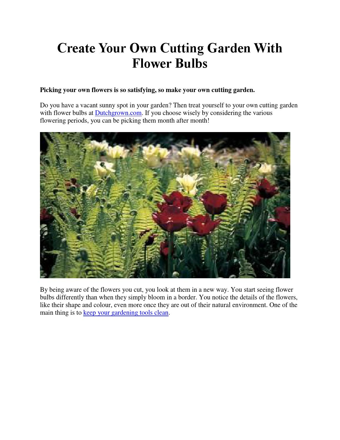 Create your own cutting garden with flower bulbs by for Garden design your own