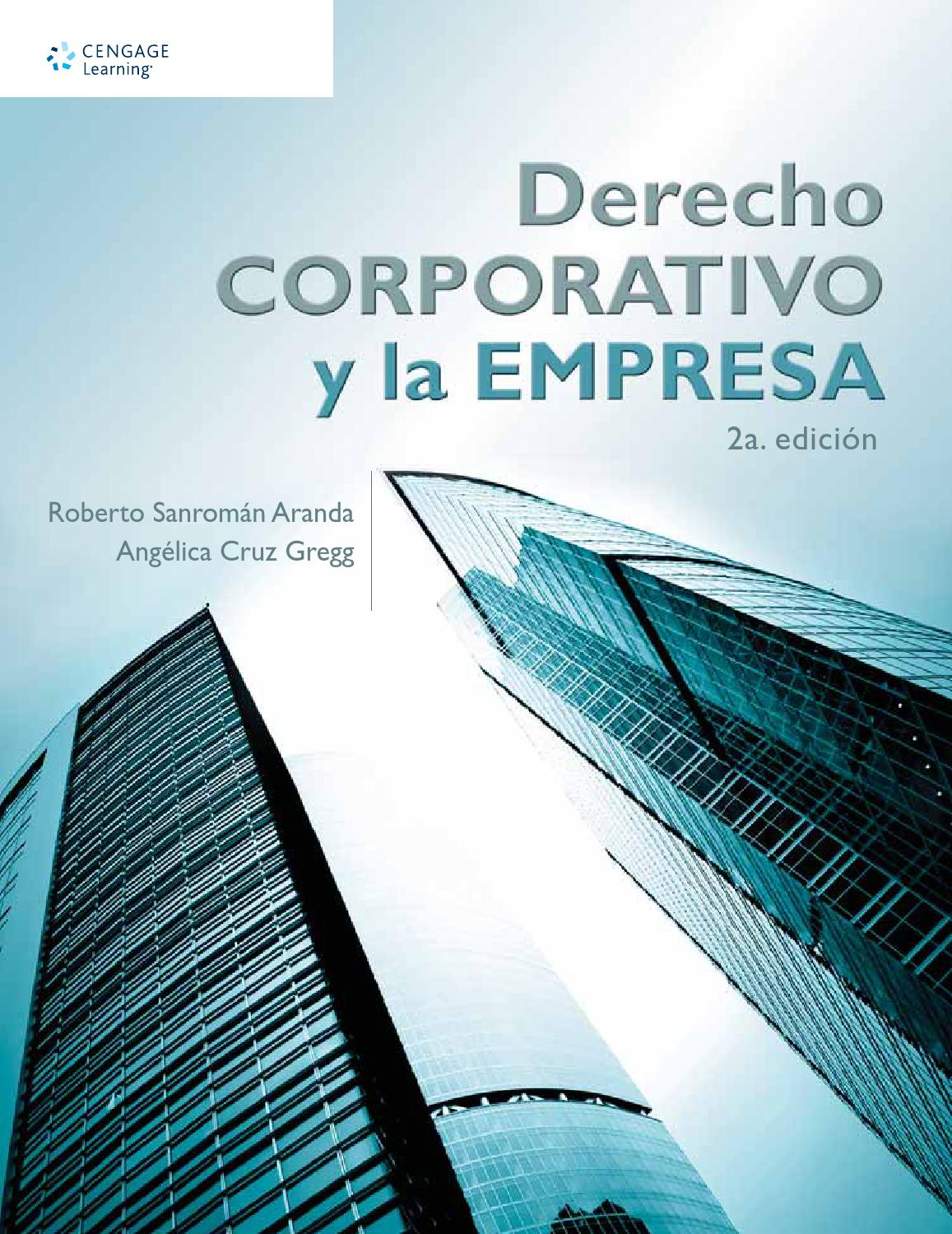 Derecho corporativo y la empresa 2a ed roberto sanrom n for Empresa de cubiertas y tejados