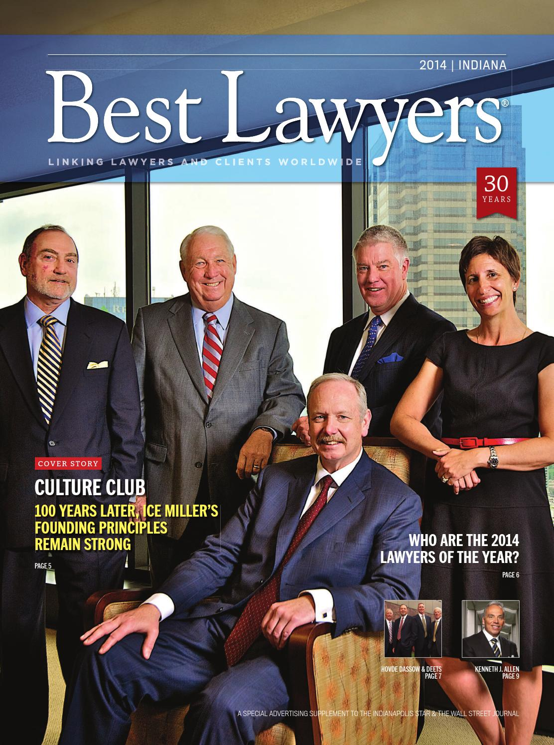 Best Lawyers In Indiana 2014 By Best Lawyers Issuu