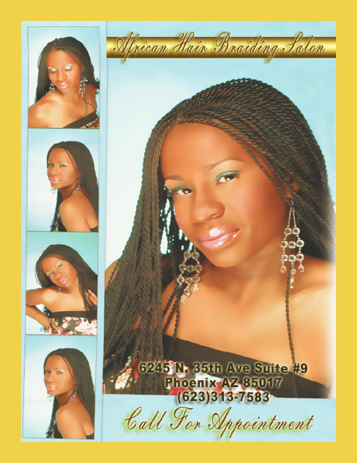 African hair braiding salon by myprints4u issuu for A touch of class pet salon