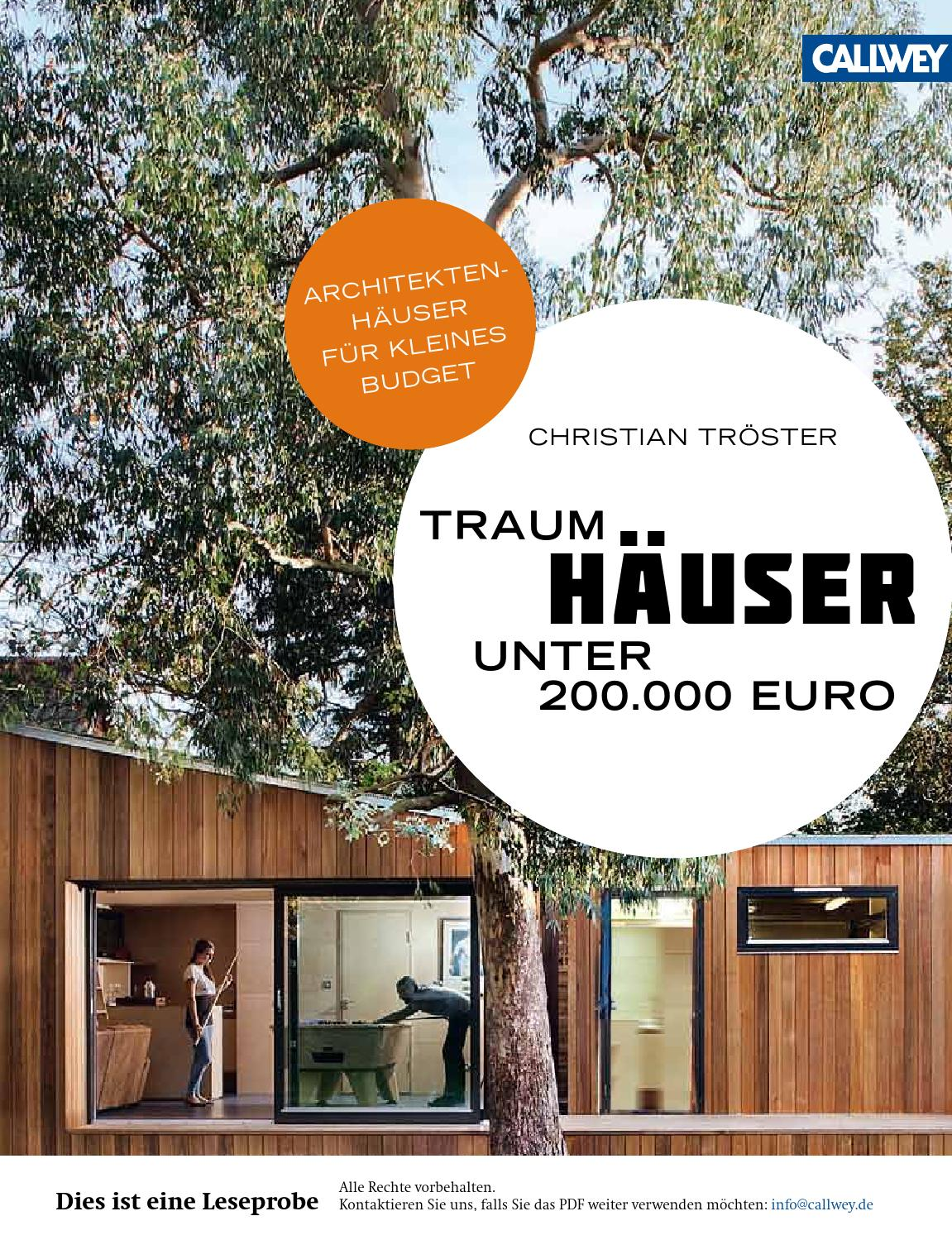 troester traumhaeuser unter euro callwey issuu by. Black Bedroom Furniture Sets. Home Design Ideas