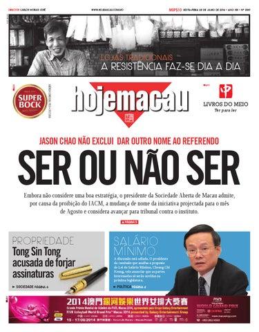 Hoje Macau 25 JUL 2014 #3139