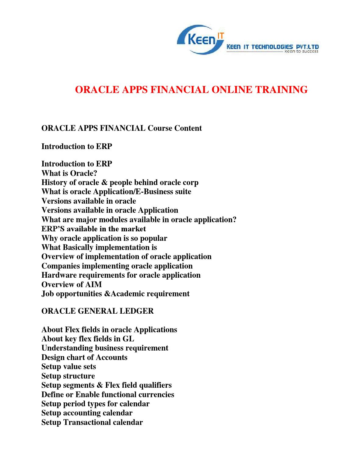Oracle apps financial online training by keentrainings issuu for Oracle cc b architecture