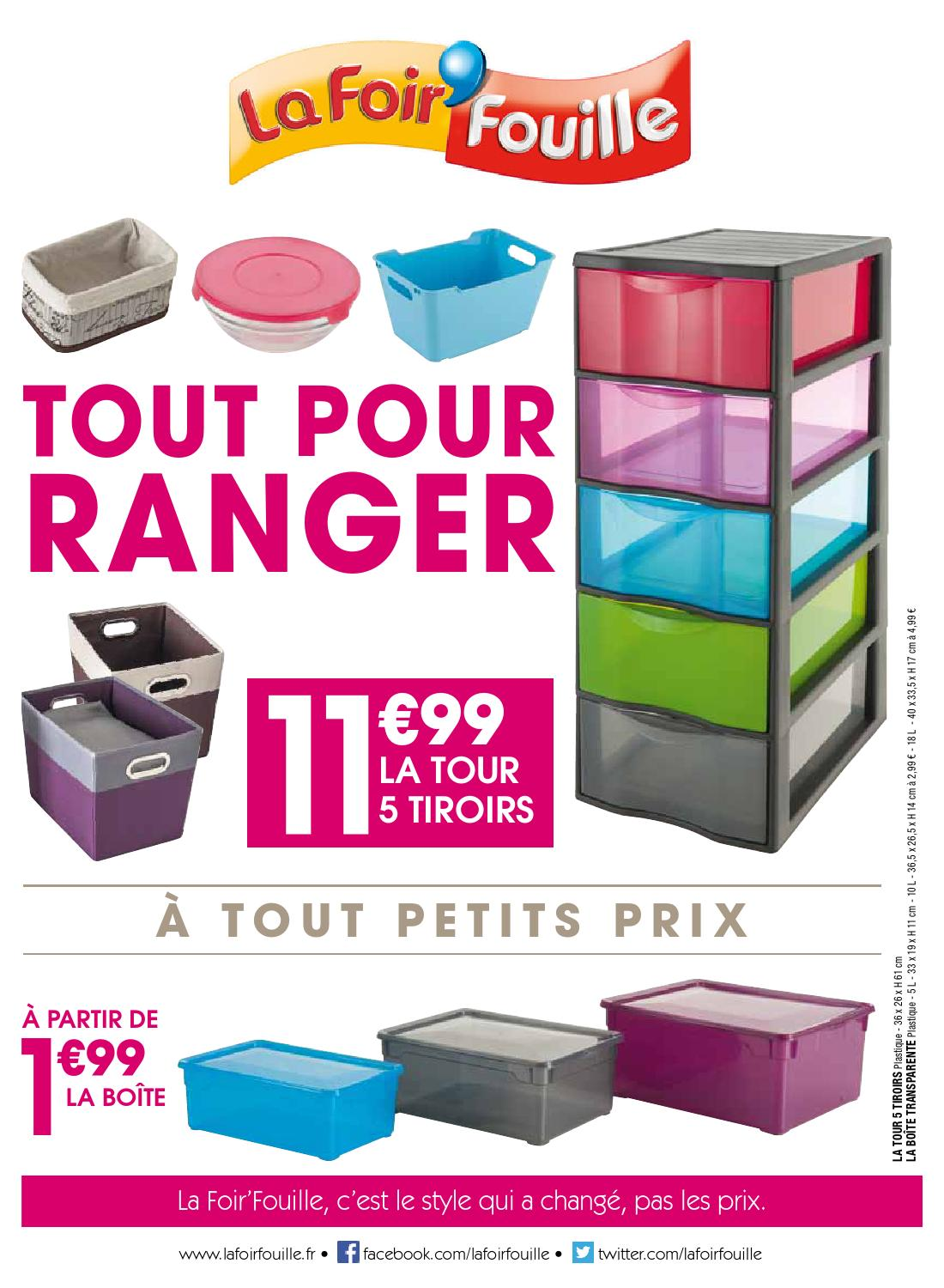 catalogue la foir fouille tout pour ranger by joe monroe. Black Bedroom Furniture Sets. Home Design Ideas