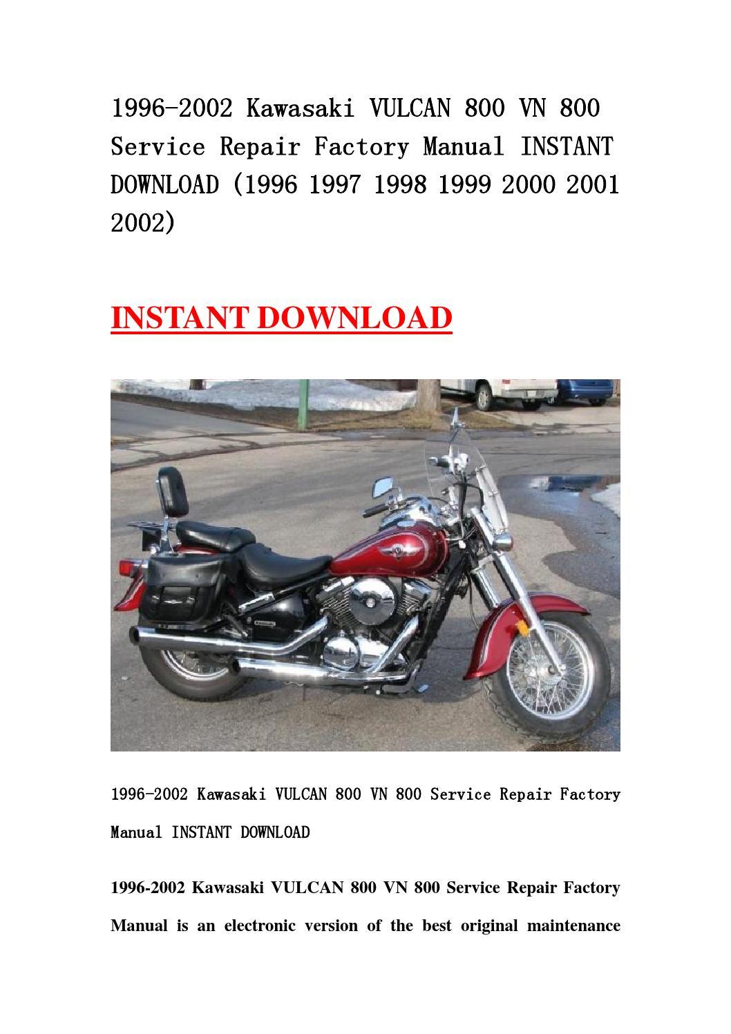 2005 kawasaki vulcan 800 service manual