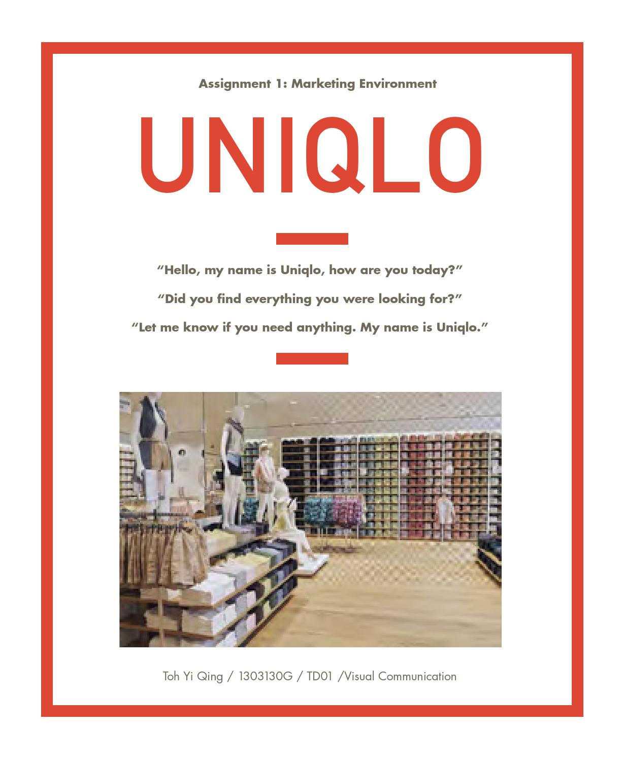 uniqlo competitive analysis by chena issuu uniqlo marketing report