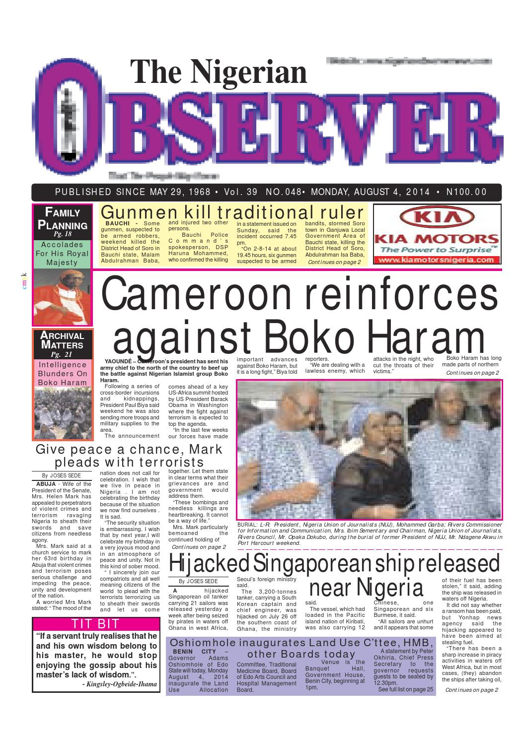 nigeria paper With substantial reach and mobility across the 36 states of the country, the news agency of nigeria (nan) is always where the news is.