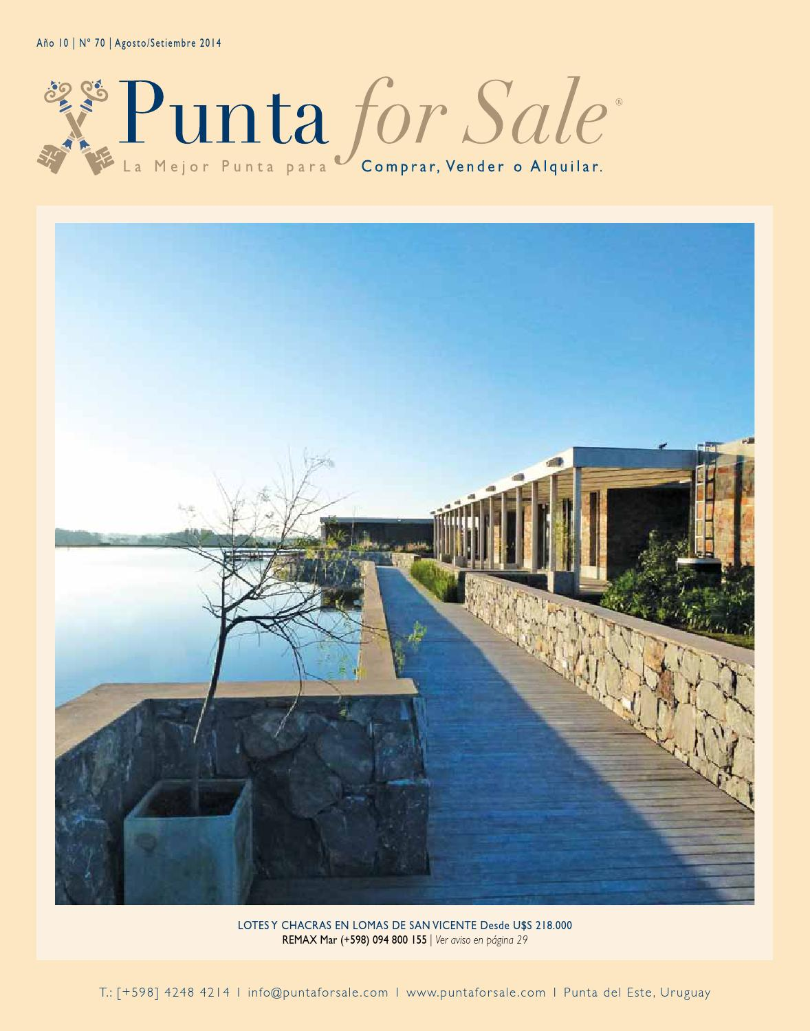Revista de Real Estate Punta For Sale, edición Agosto - Setiembre 2014
