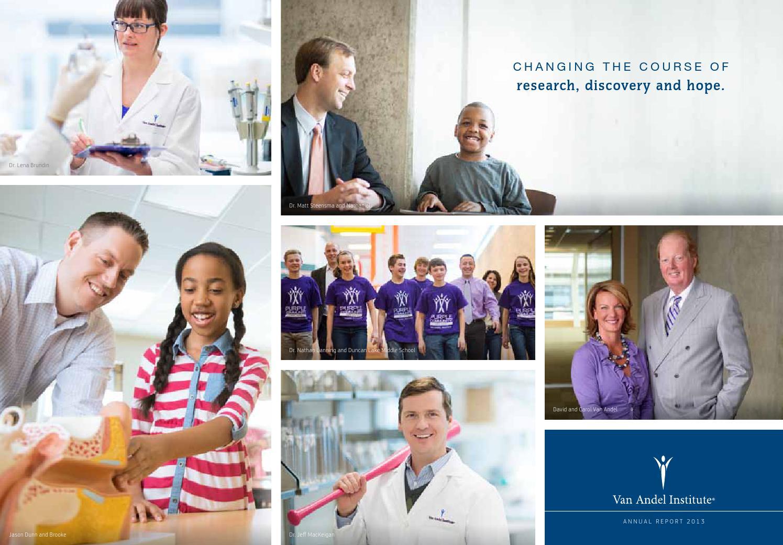 van andel institute annual report 2013 by van andel