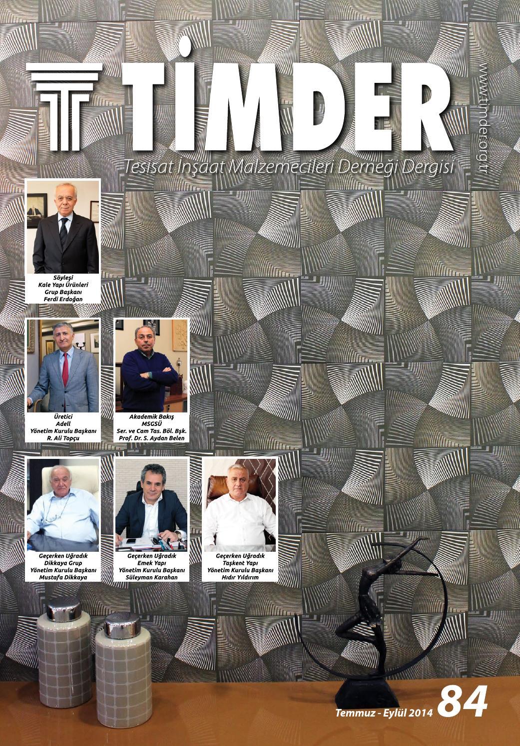 Tİmder Dergisi 84 Sayı By Tİmder Tesisat İnşaat
