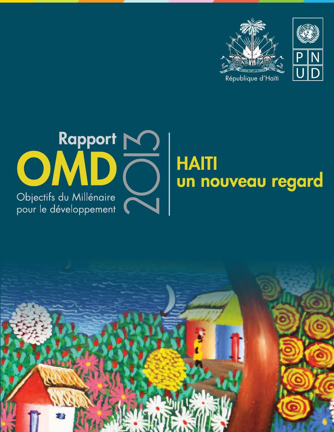 rapport complet sur les omd   ha ti un nouveau regard by
