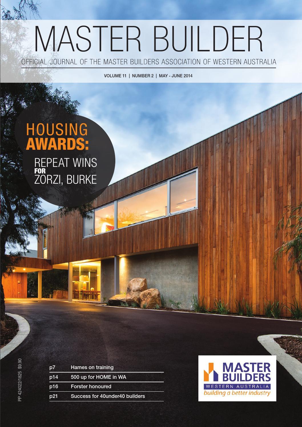 2014 Master Builders Western Australia Magazine May Jun By