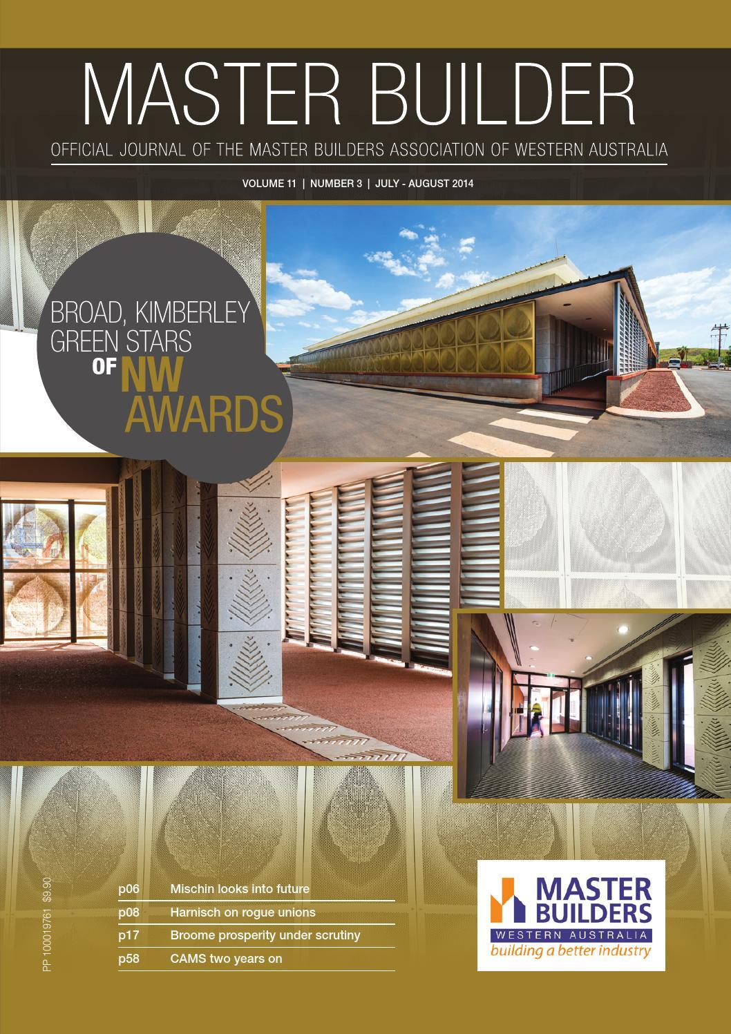 2014 Master Builders Western Australia Magazine Jul Aug By