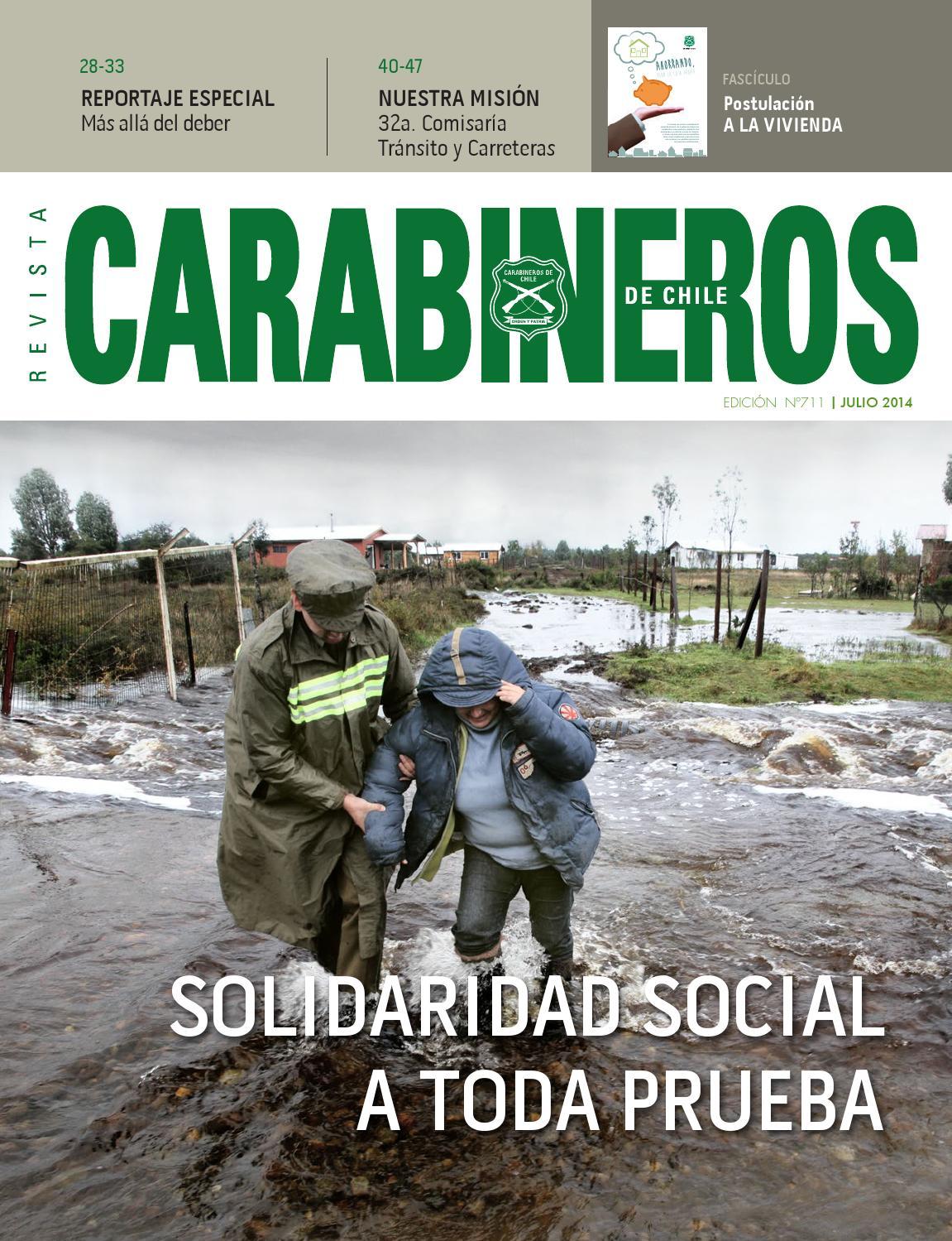 Edic 711 julio 2014 by carabineros de chile carabineros de for Donde queda el ministerio de interior y justicia