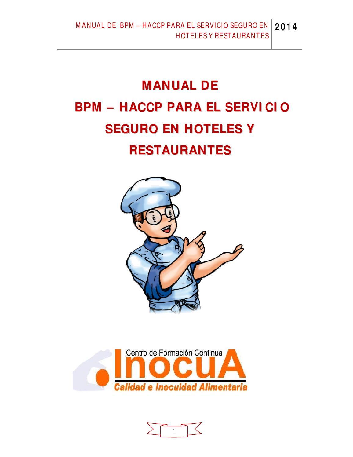 Manual bpm en restaurantes by inocua peru issuu for Manual de restaurante pdf