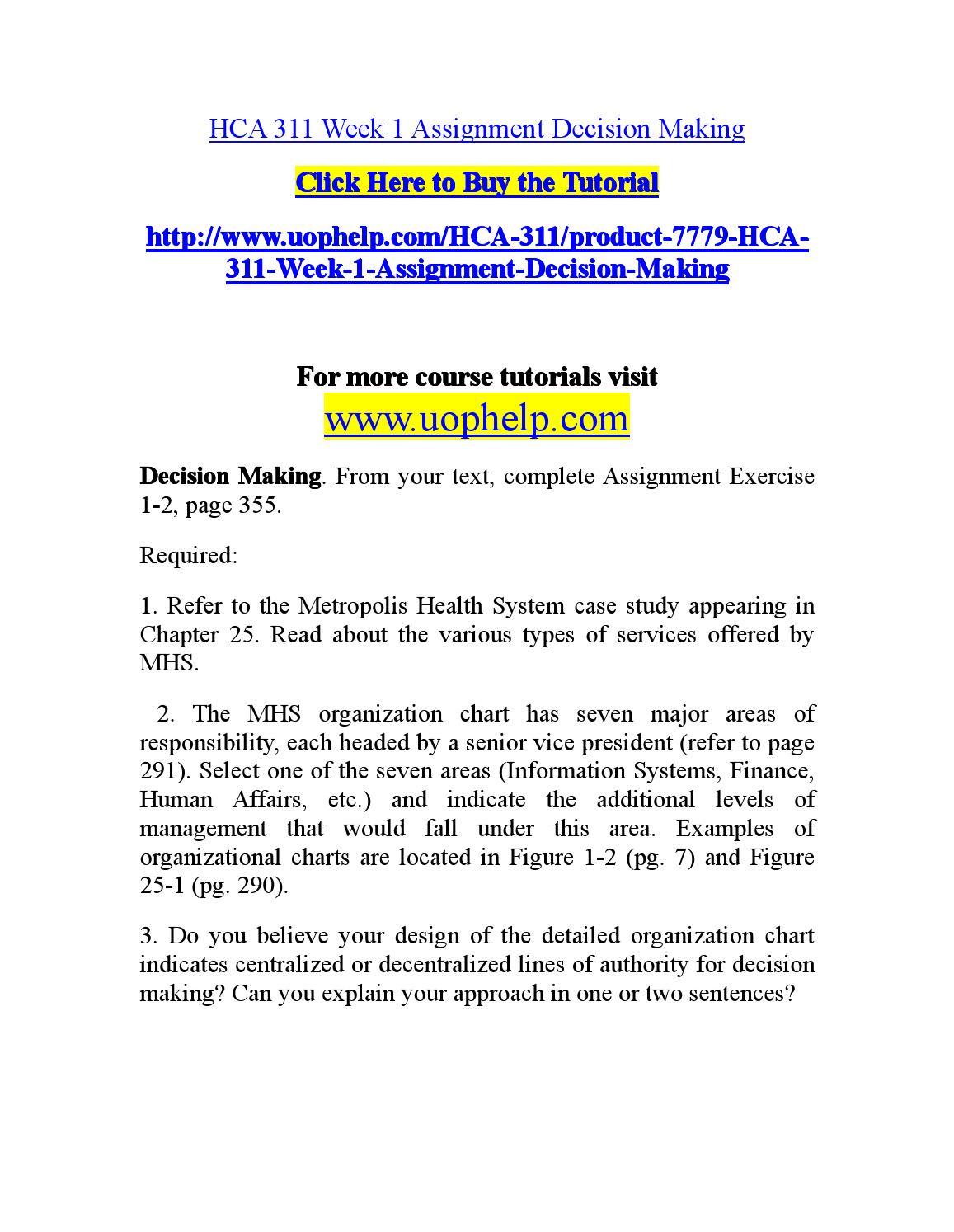 Hca 311 business plan topic