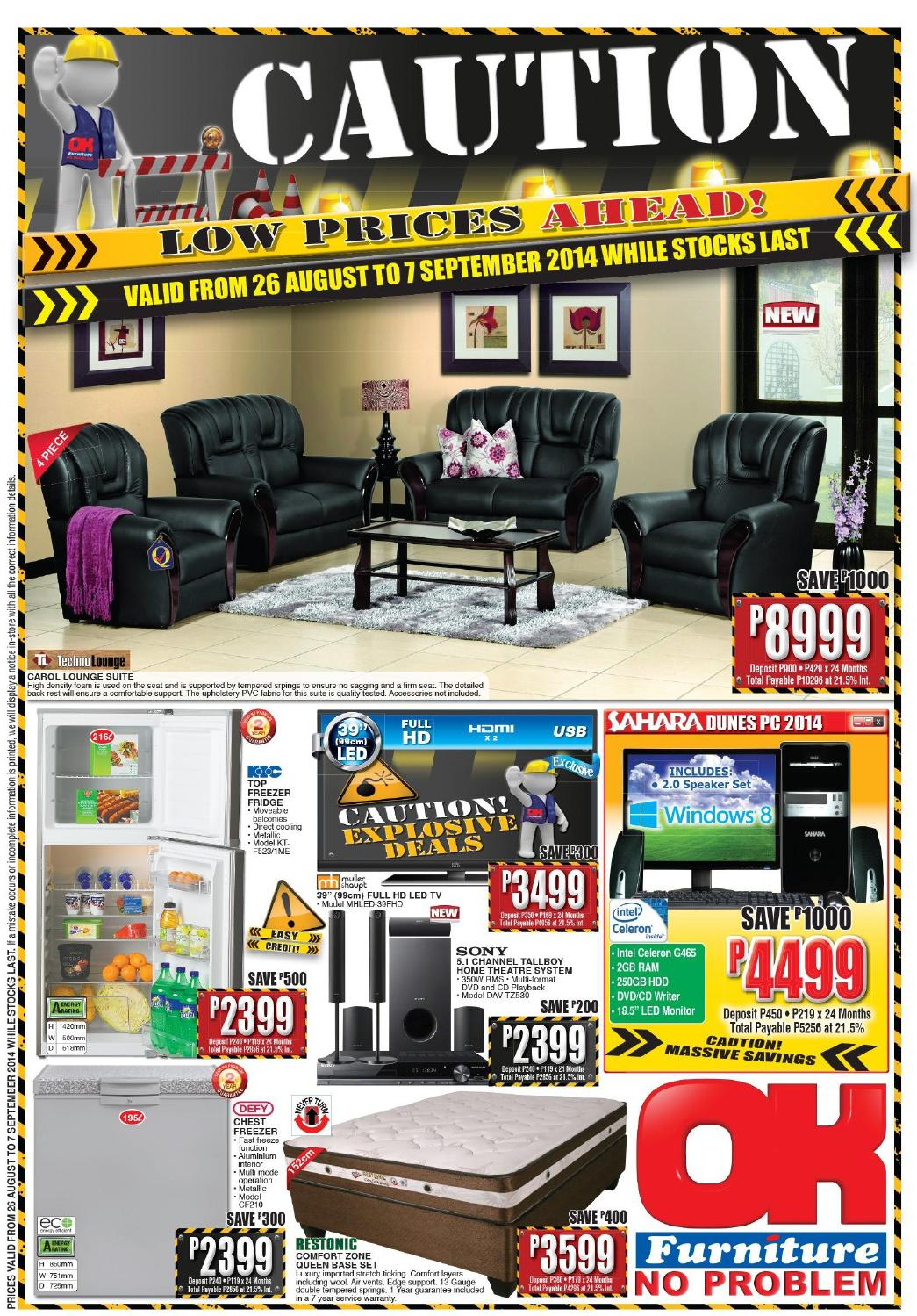 Ok Furniture International Catalogues Botswana Validity 26th August 7th September 2014 By Ok