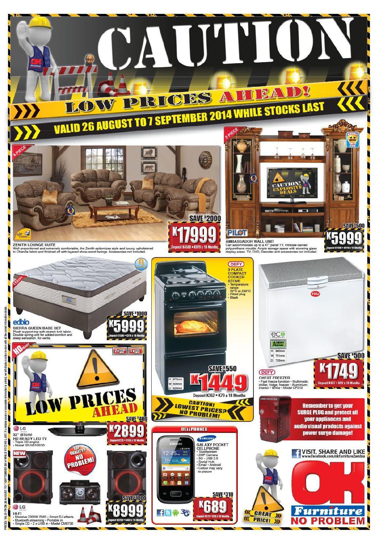 OK Furniture International Catalogues Zambia Validity 26th
