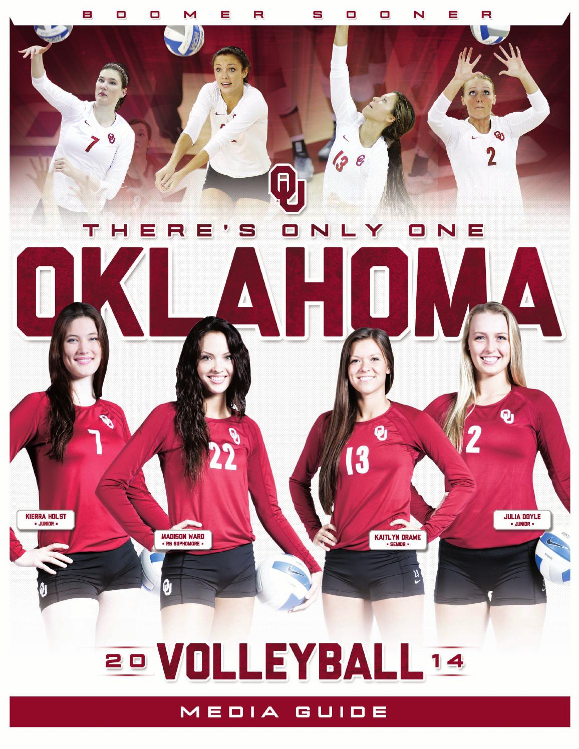 2014 Oklahoma Volleyball Media Guide By OU Athletics