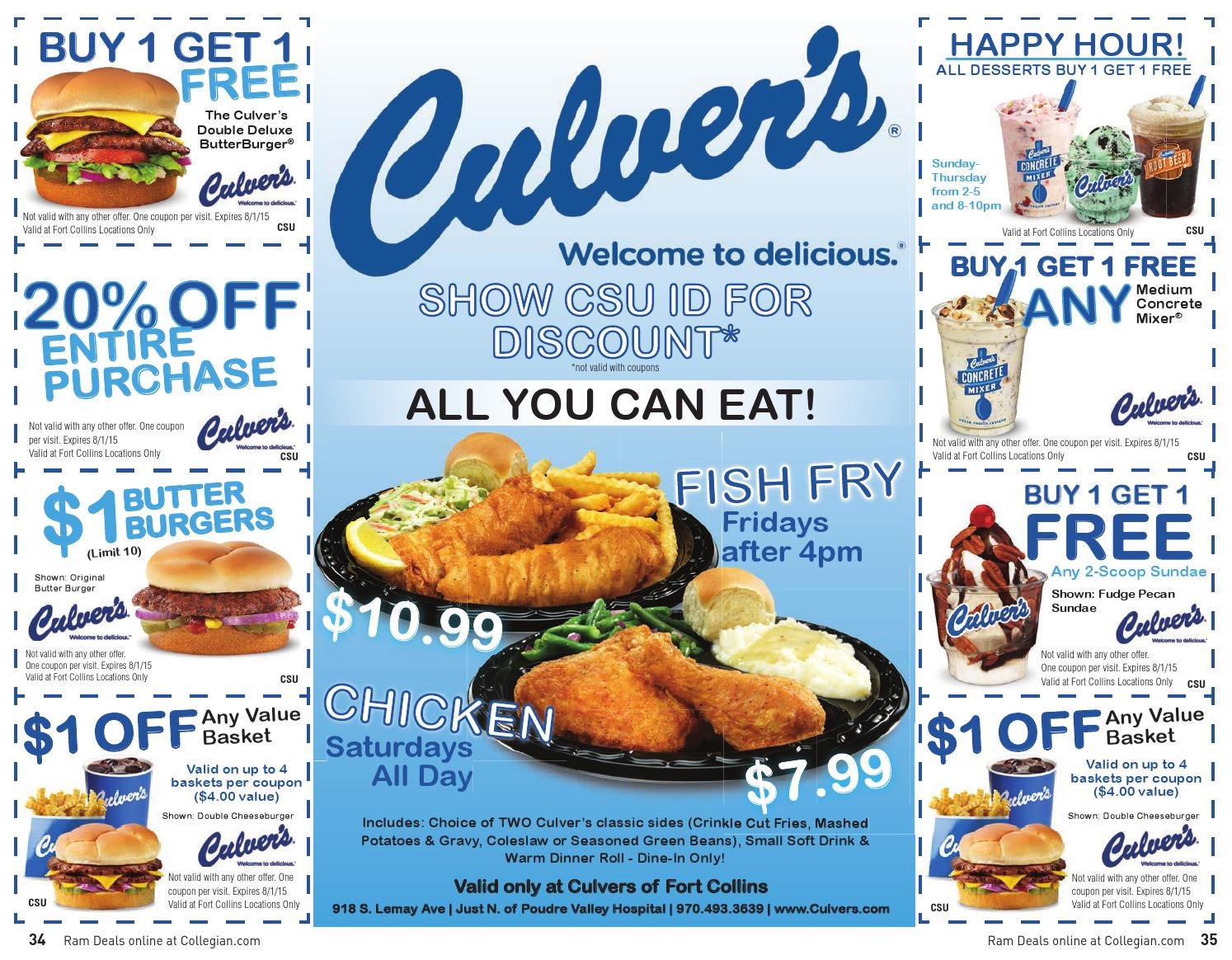 At Culvers Sign Up For eClub & Receive Discounts, Coupons, & More. Shop and save at Culvers. Sign Up For eClub & Receive Discounts, Coupons, & More.