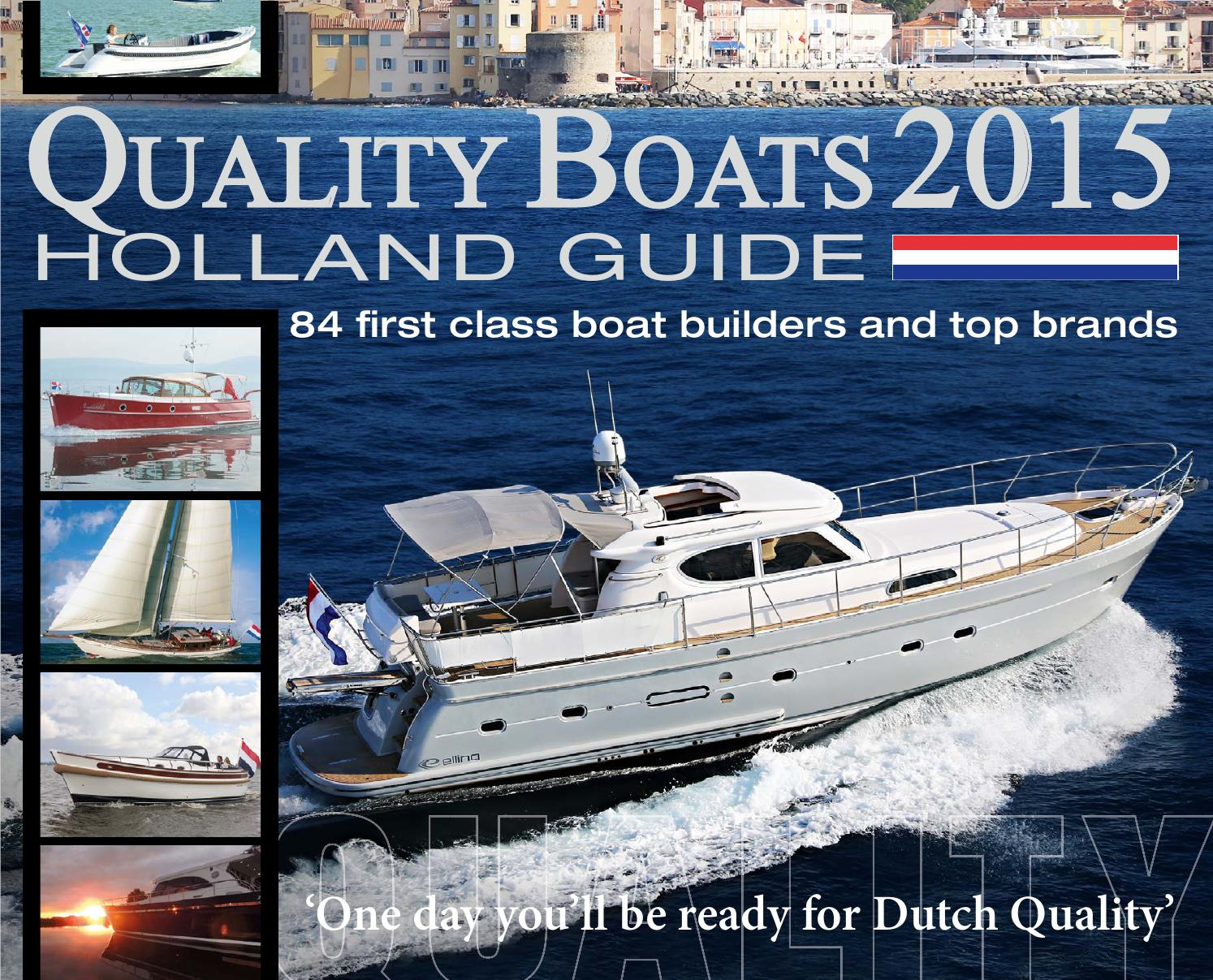 Quality Boats Holland Guide 2015 by Quality Boats Holland Guide ...