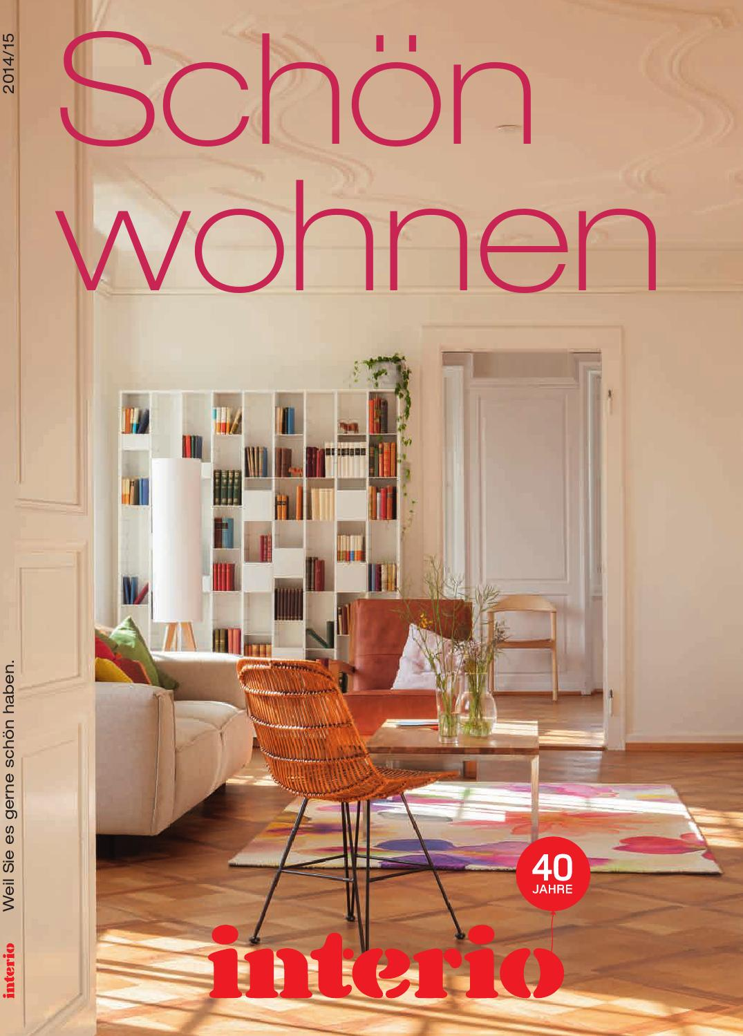 sch n wohnen interio katalog 2014 15 by interio interio issuu. Black Bedroom Furniture Sets. Home Design Ideas