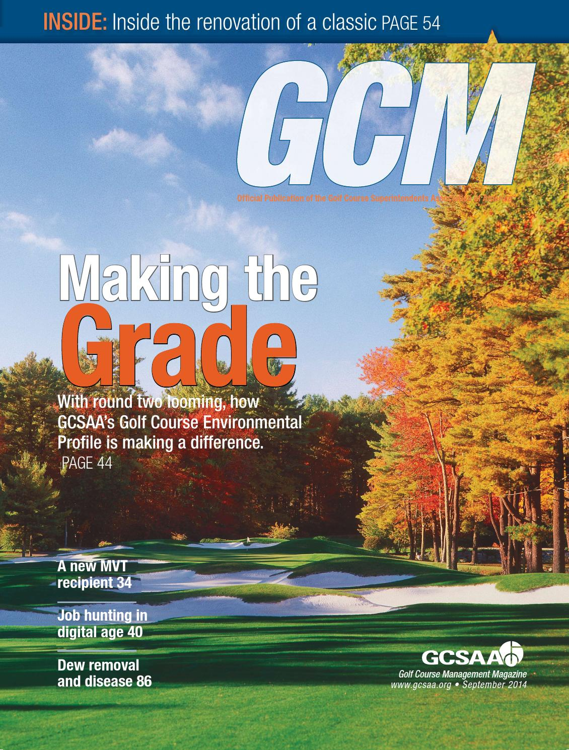 Golf Course Management October 2014 By Golf Course Management