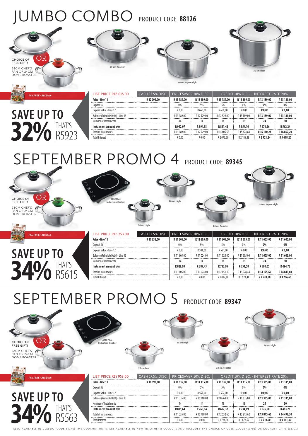 amc september customer promo 2014 by amc cookware issuu. Black Bedroom Furniture Sets. Home Design Ideas