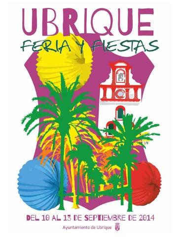Programa Feria y Fiestas de Ubrique 2014