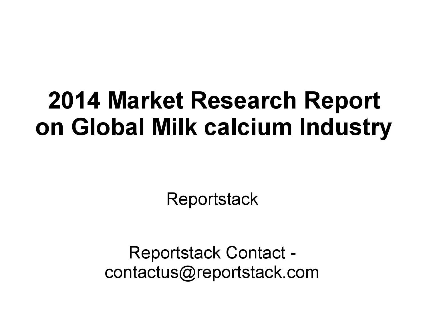2014 market research report on global