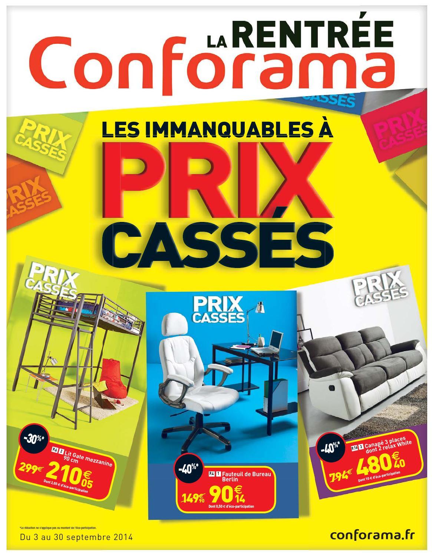 conforama catalogue 3 30septembre2014 by issuu. Black Bedroom Furniture Sets. Home Design Ideas