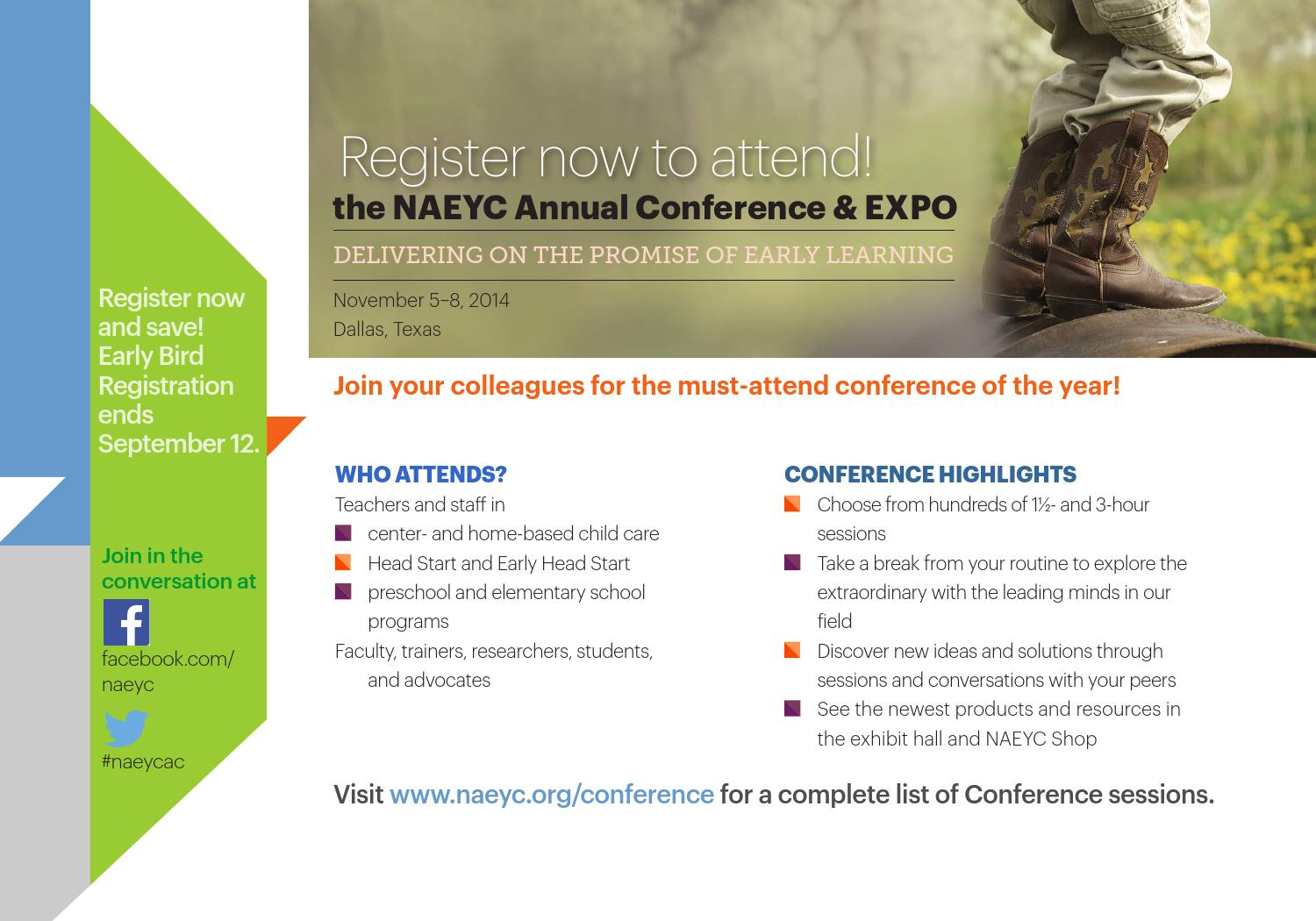2014 naeyc annual conference amp expo by naeyc page 2 issuu