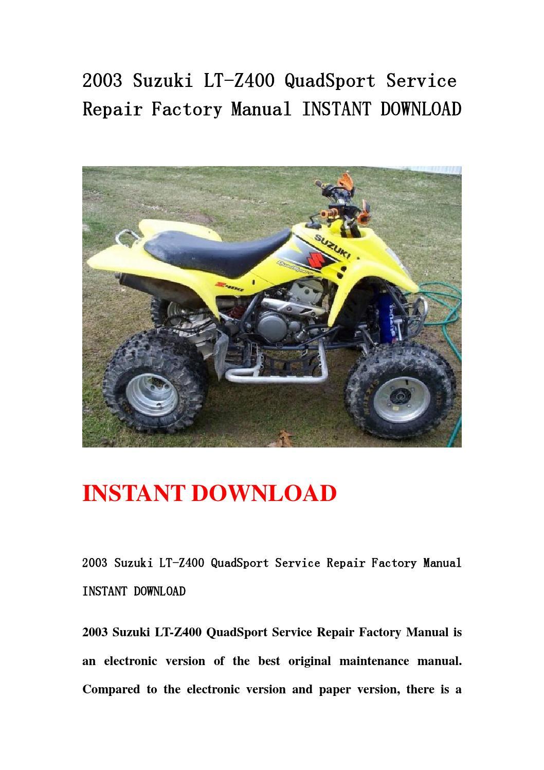 Suzuki 230 quadsport manual download
