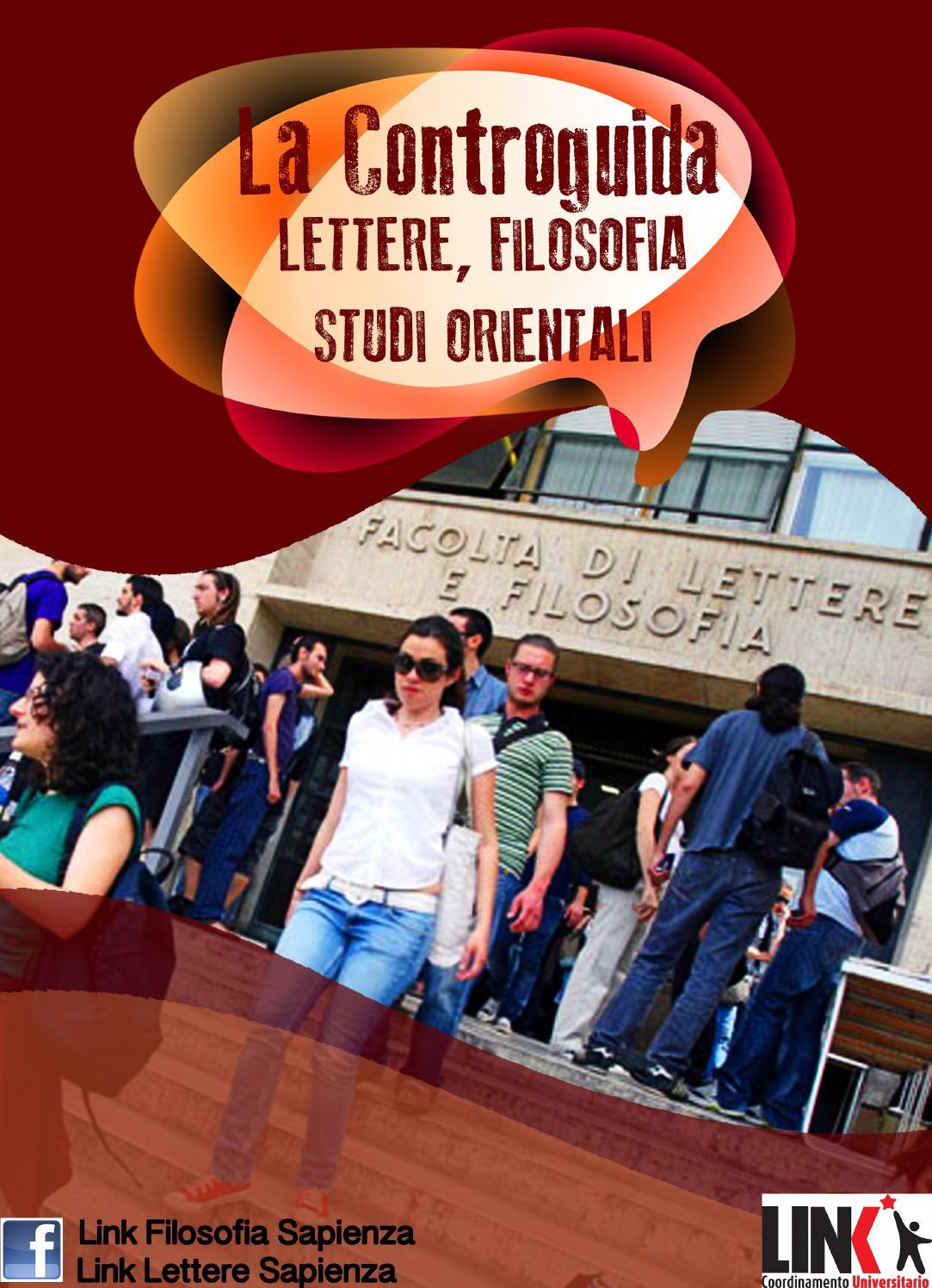 La Controguida LETTERE, FILOSOFIA, STUDI ORIENTALI by Link Roma - issuu