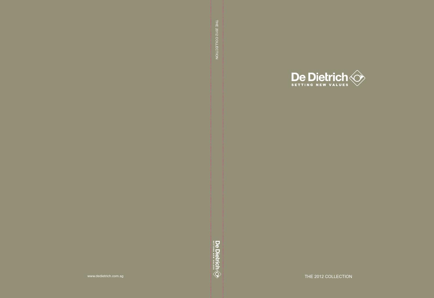 de dietrich catalogue 2012 full set by dinhlu issuu. Black Bedroom Furniture Sets. Home Design Ideas