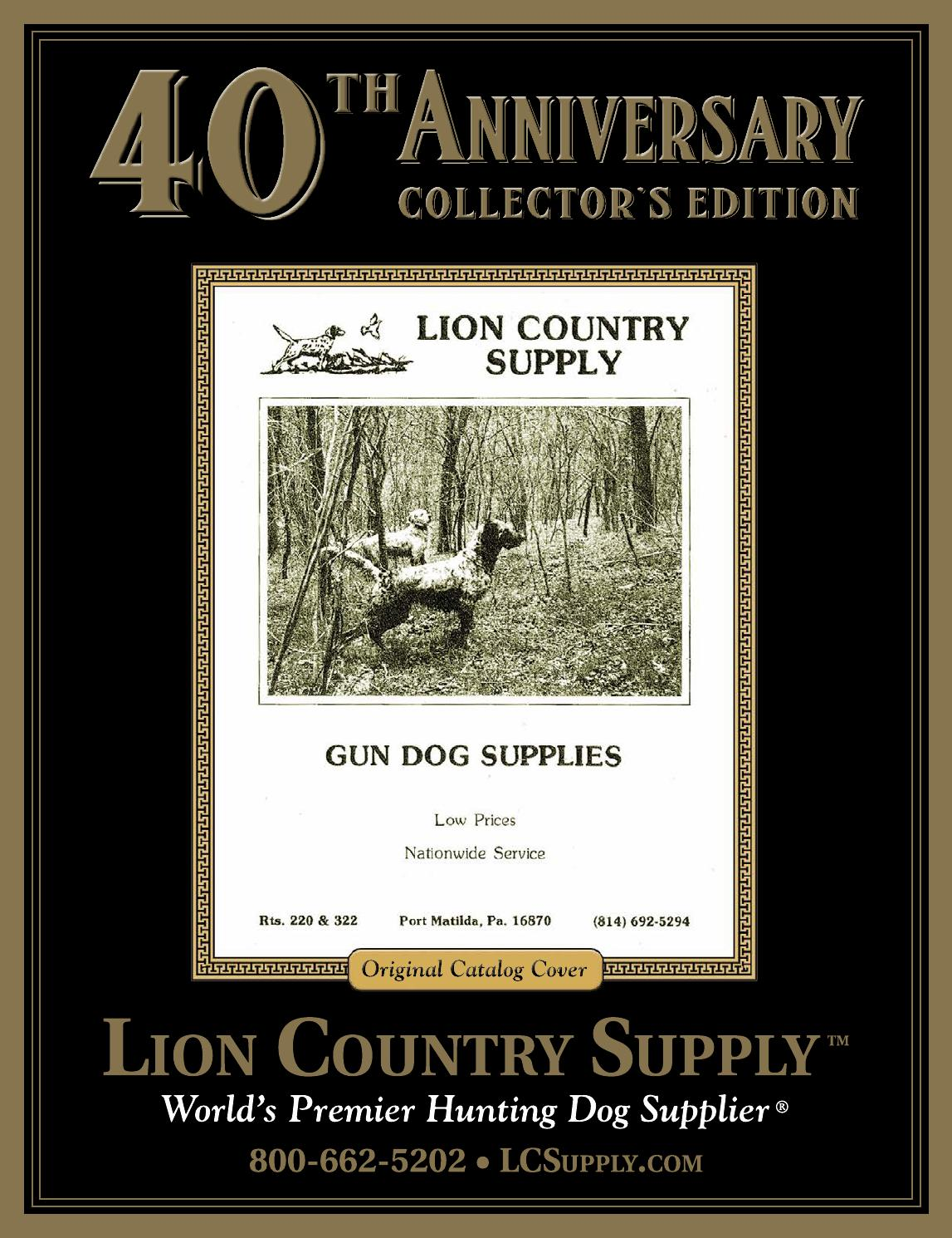Lion country supply fall winter 2014 40th anniversary for Gardeners supply company catalog