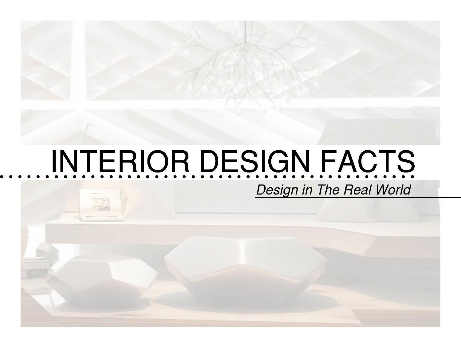 Interior design facts by natascha bolliger issuu for Interior design facts