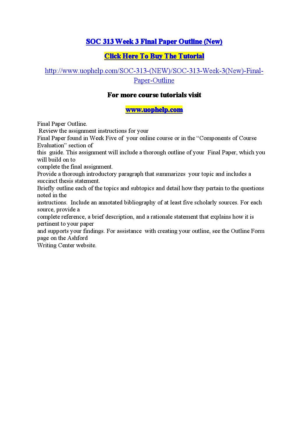 SOC 203 Ash Course Tutorial / Uophelp