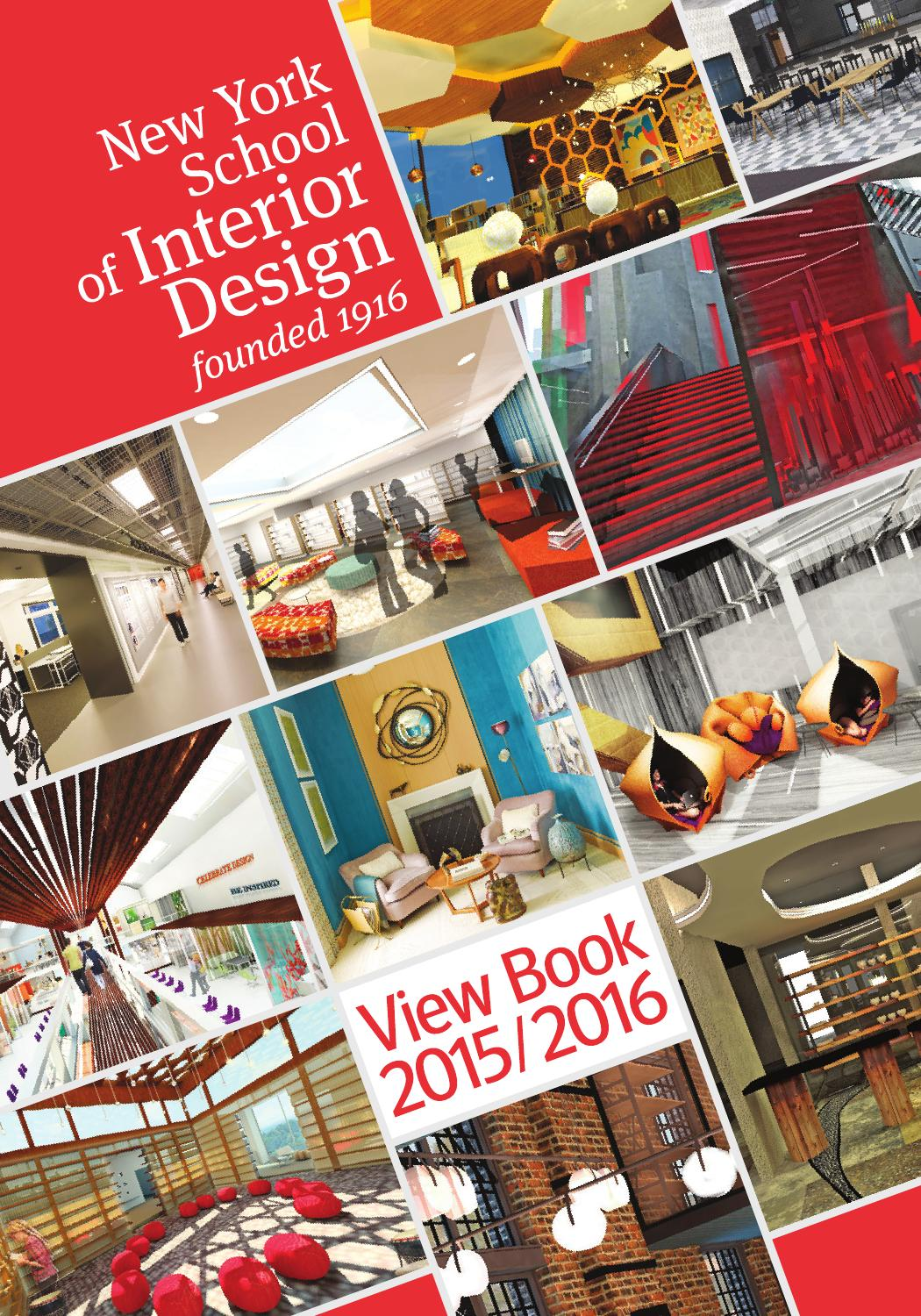 Nysid view book 2015 2016 by new york school of interior design issuu for Interior design schools new york