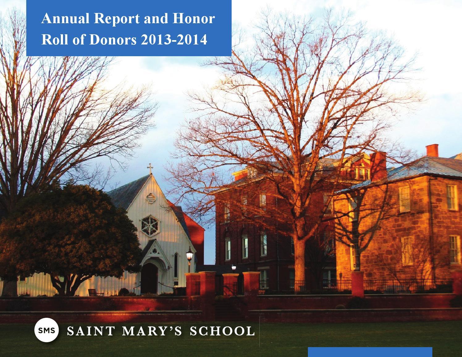 Saint Mary's School 2013-2014 Annual Report by Saint Mary's School ...