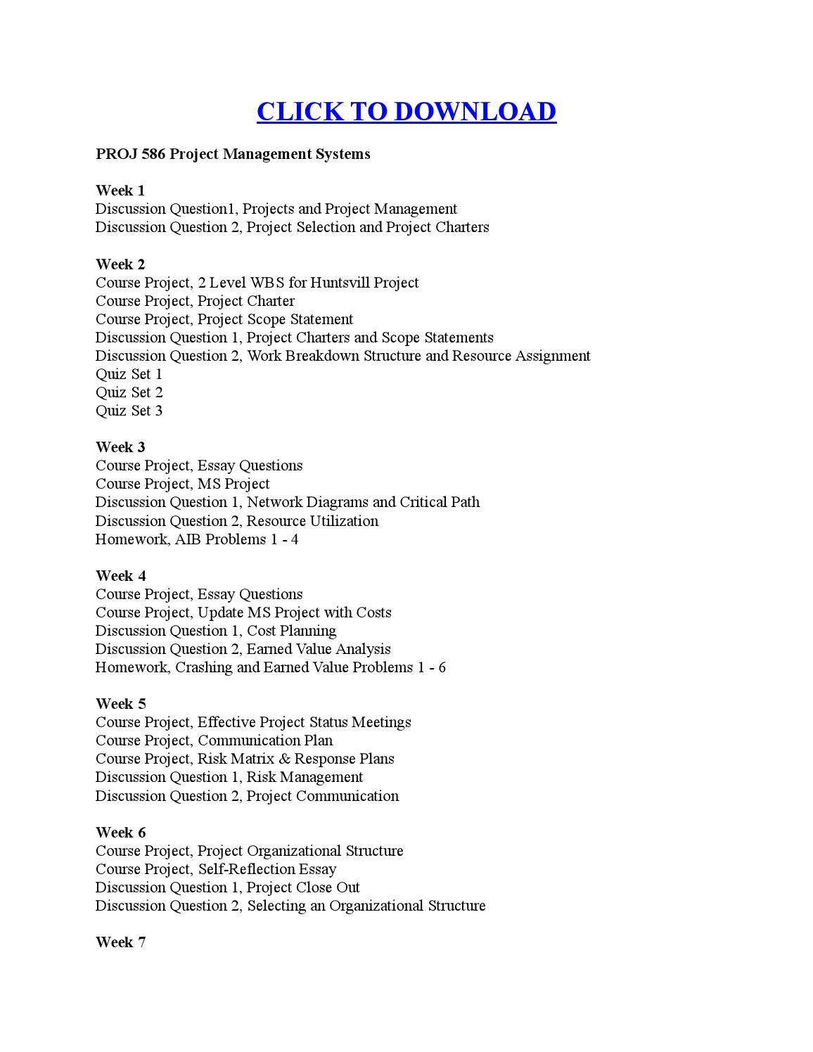 aib problems project manangement Proj-586 project management systems - week 3 aib problems, a+ tutorial before starting this homework assignment, please review the aib simulation in this week's lecture this simulation will.