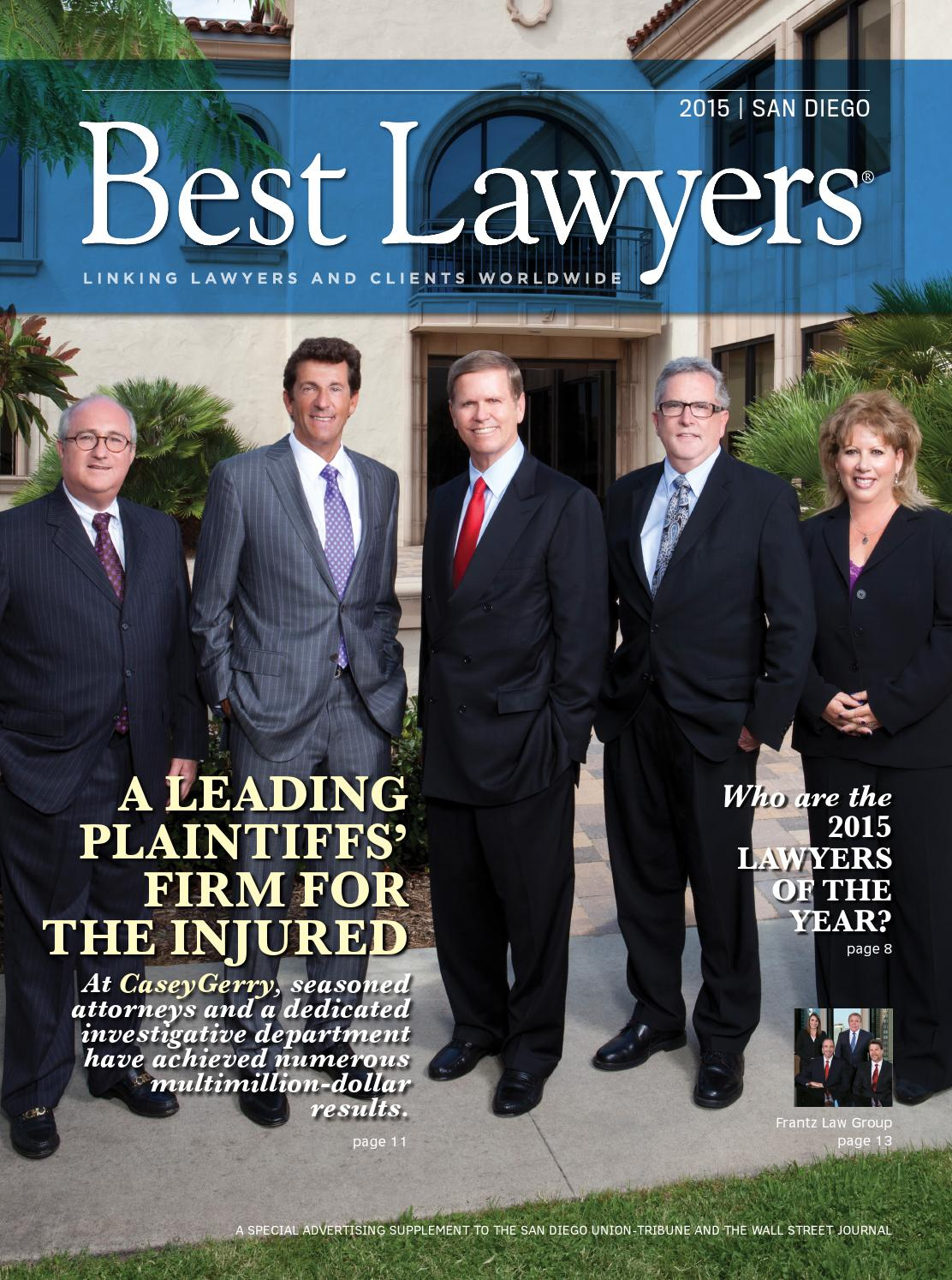 Best Lawyers In San Diego 2015 By Best Lawyers Issuu