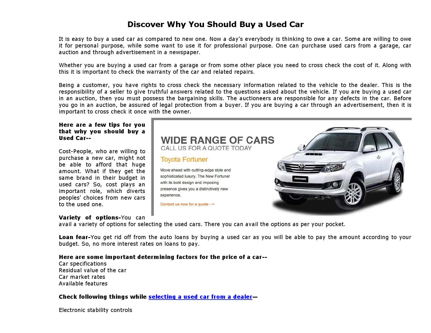 Why You Should Buy A Hire Car: Discover Why You Should Buy A Used Car By Everise Auto