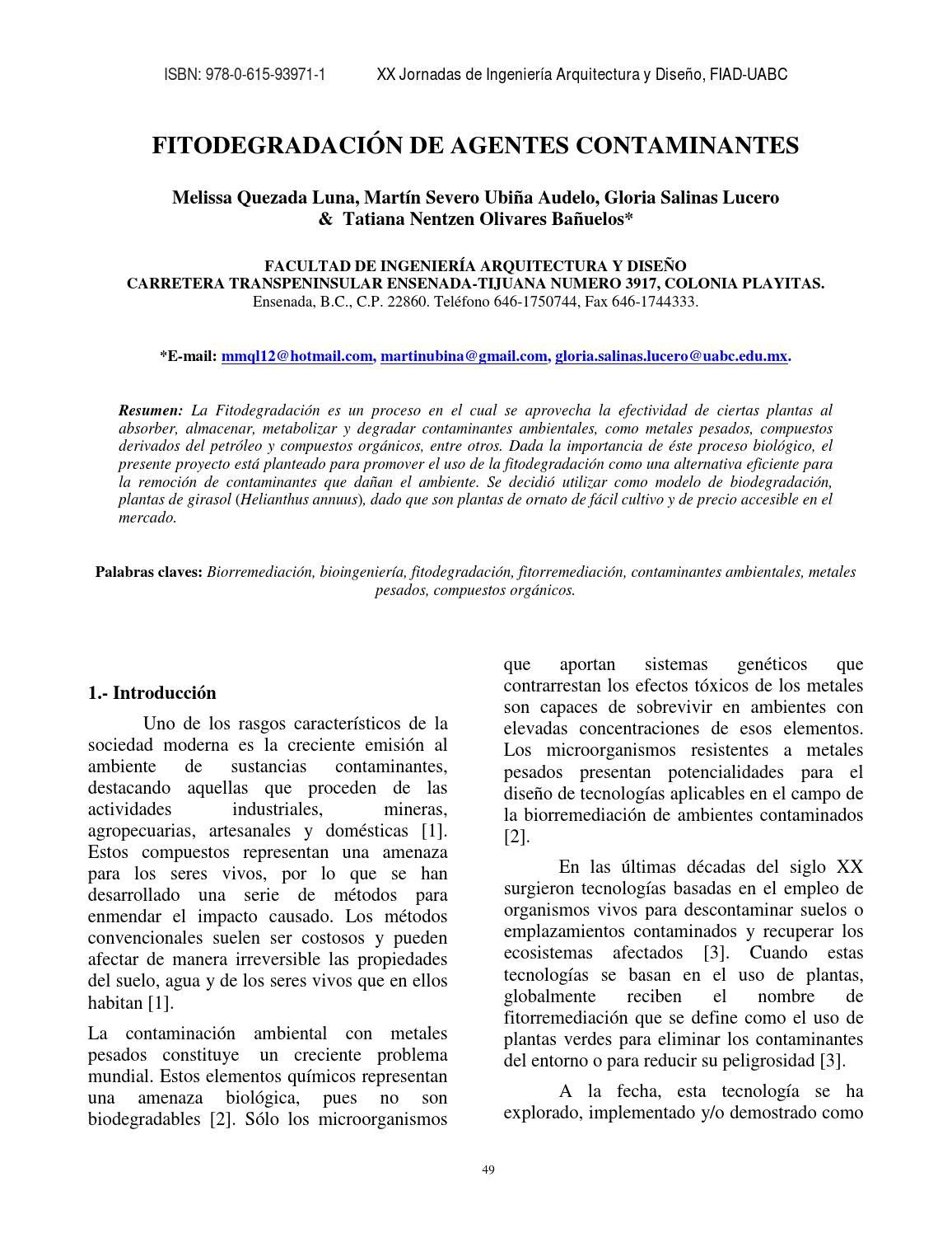 13 Fitodegradaci N De Agentes Contaminantes By Manuel