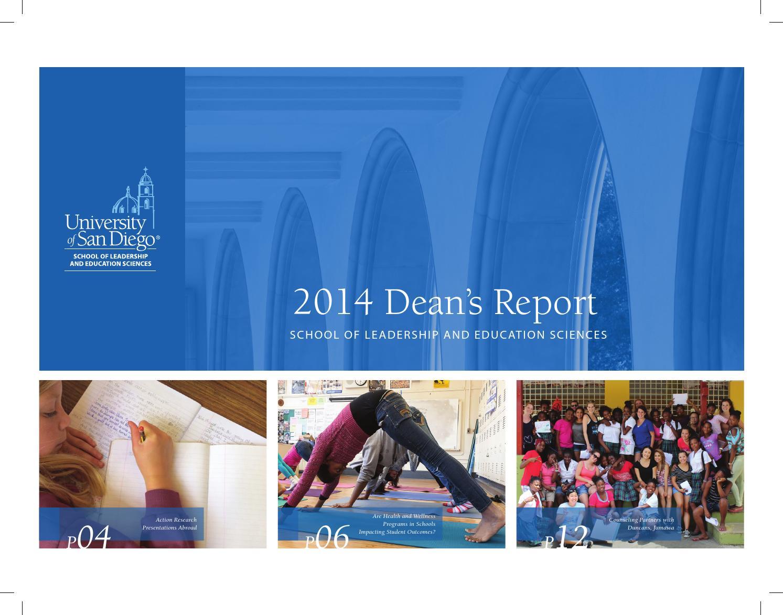 2014 Dean's report